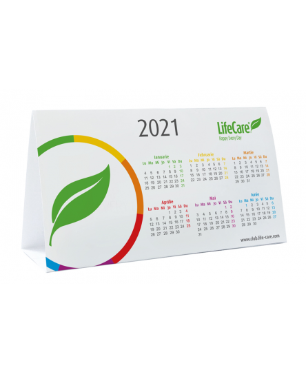 Calendar birou in limba romana -Life Care® 2021