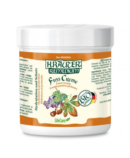 Crema de picioare pentru imbunatatirea circulatiei, cu vita de vie si plante BIO Kräuter®, 100 ml
