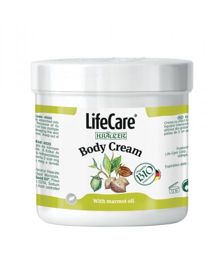 Crema pentru corp, cu ulei de marmota si plante BIO, Life Care®