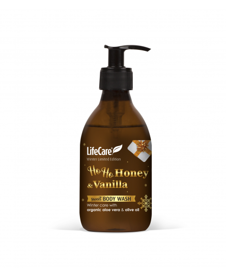 Gel de dus, Honey & Vanilla Christmas, cu plante BIO, Life Care®