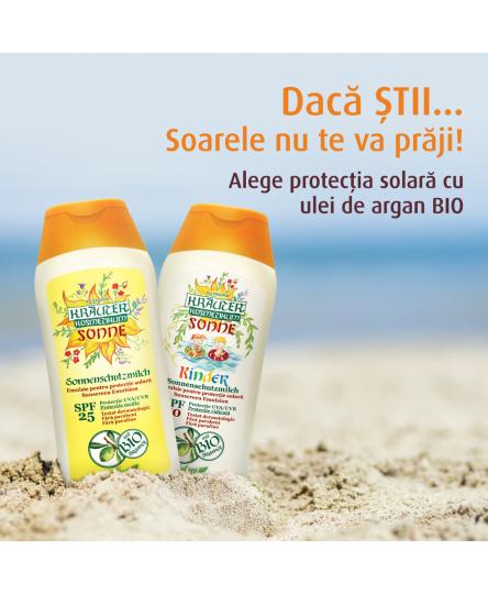 Pachet protectie solara, cu ulei de argan BIO, adulti si copii, Life Care®