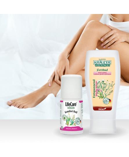 Pachet Relax&Go, pentru ingrijirea picioarelor, cu plante BIO, Life Care®