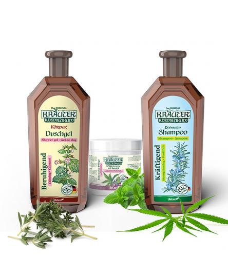 Pachet trio de ingrijire cu plante bio Life Care®