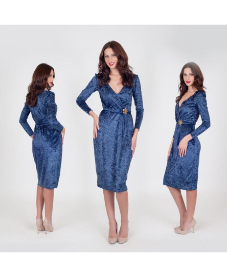 Rochie Olivia bleumarin M40 -So Love by Life Care®