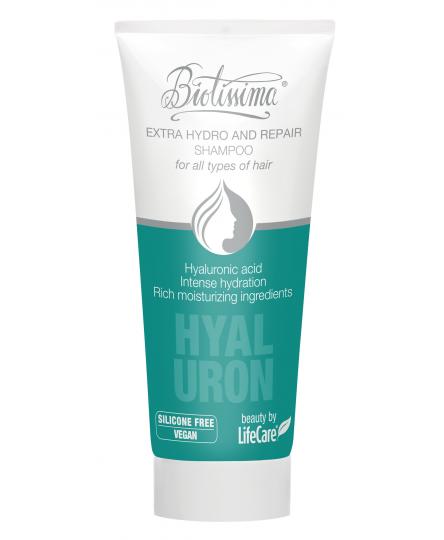 Sampon cu acid hialuronic pentru hidratare intensa Biotissima® - 75 ml