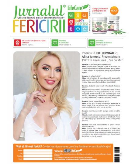 Set 50 buc Jurnalul Fericirii  editia noiembrie - decembrie 2020