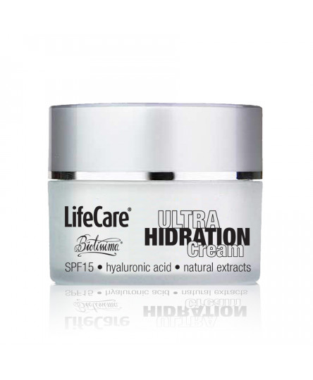 Crema ULTRA hidratanta, cu SPF 15 si acid hialuronic, Life Care®