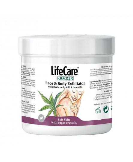 Exfoliant cu acid hialuronic si ulei de canepa, Life Care®