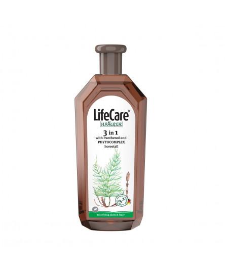 Sampon, gel de dus si spumant de baie 3 in 1, cu pantenol si PHYTOCOMPLEX coada calului, Life Care®